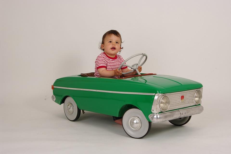Small Driver, Children'S Pedal Car, Retro Car