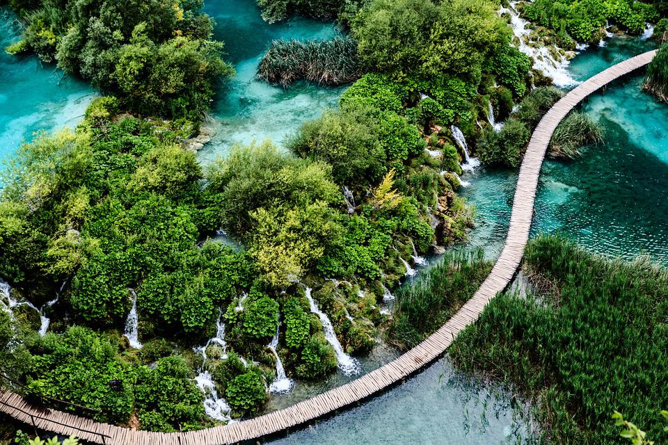 Croatia, Plitvice, Waterfall, Travel
