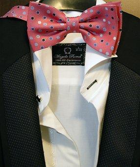 Bow, Suit, Male, Person, Elegant