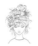 girl, hairstyle, illustration
