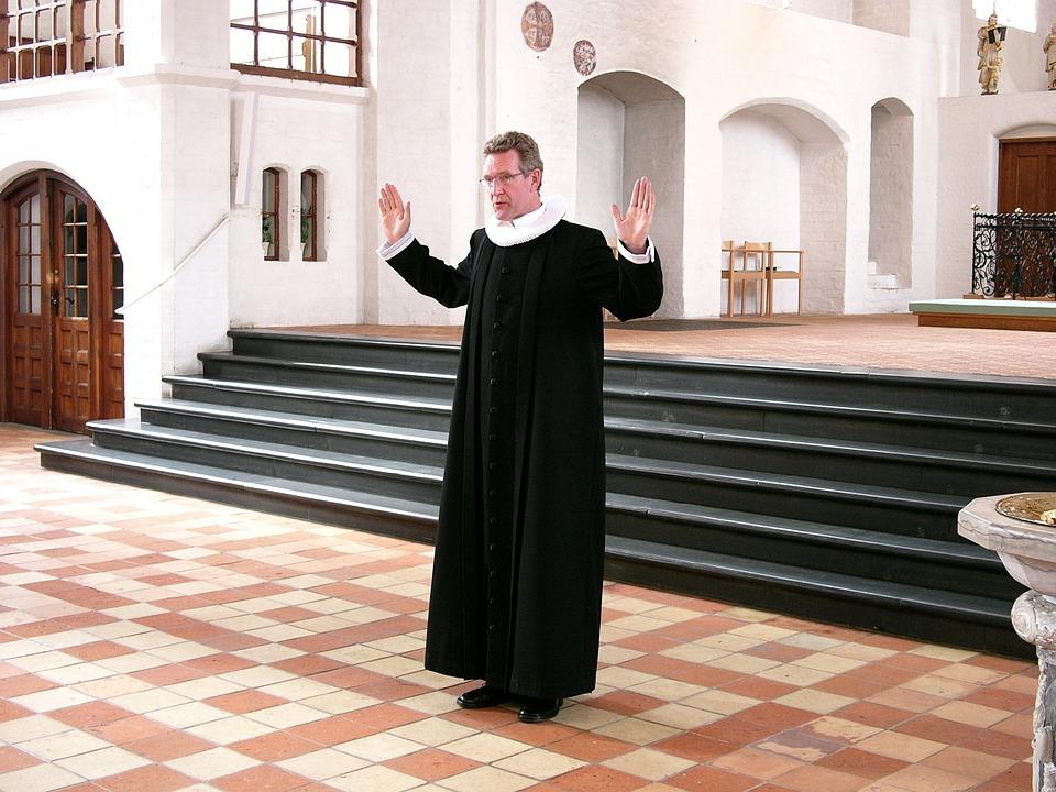 Priest, Church, Blessing, Cassock, Plover