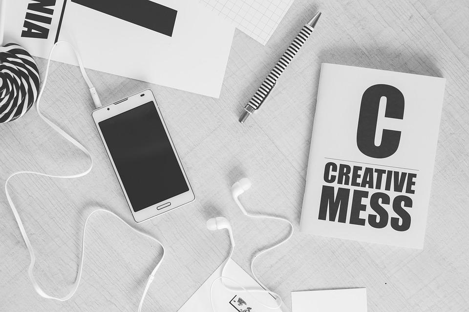 創造的です, 仕事, モックアップ, ビジネス, オフィス, コンピュータ, 技術, 人