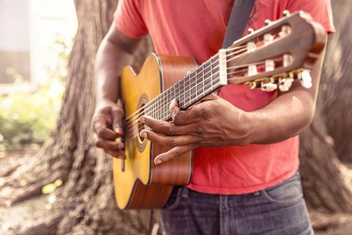 Guitar, Music, Man, Play, Strum, Chord