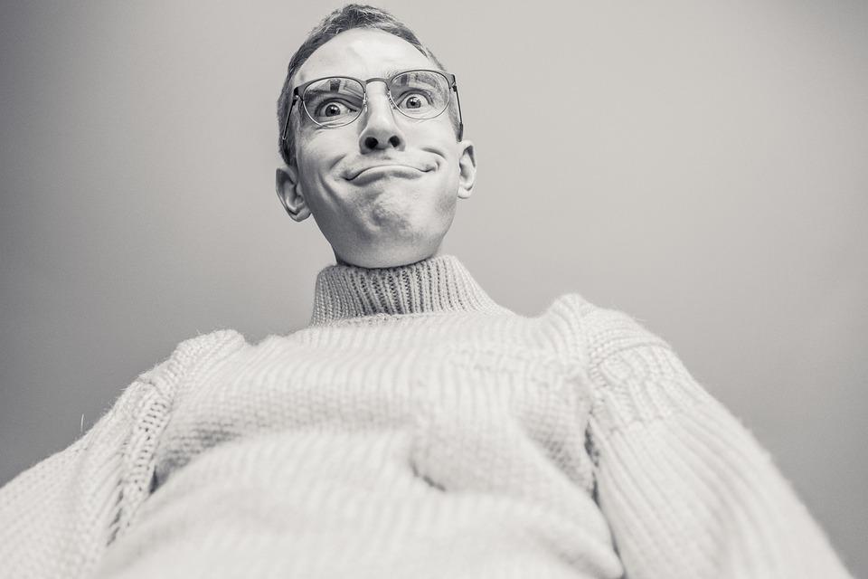 Mens, Gek, Expressie, Grappig, Vreemd, Eigenaardig