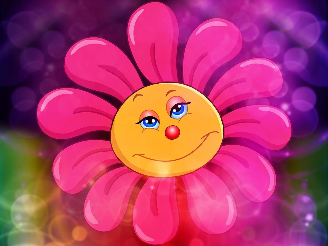 Картинки прикольные цветочки, поздравления днем