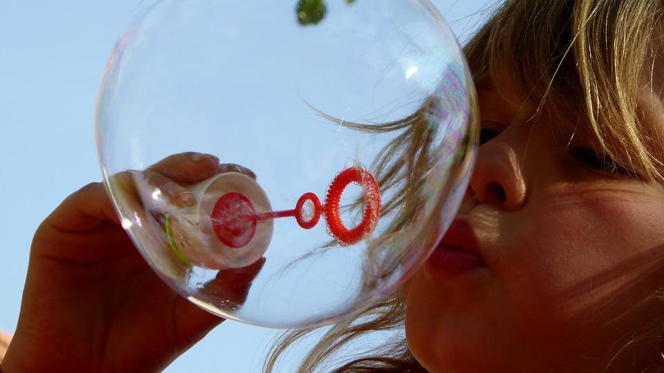 Мыльные Пузыри, Детей, Игры, Летающий, Взрыв, Пузырь