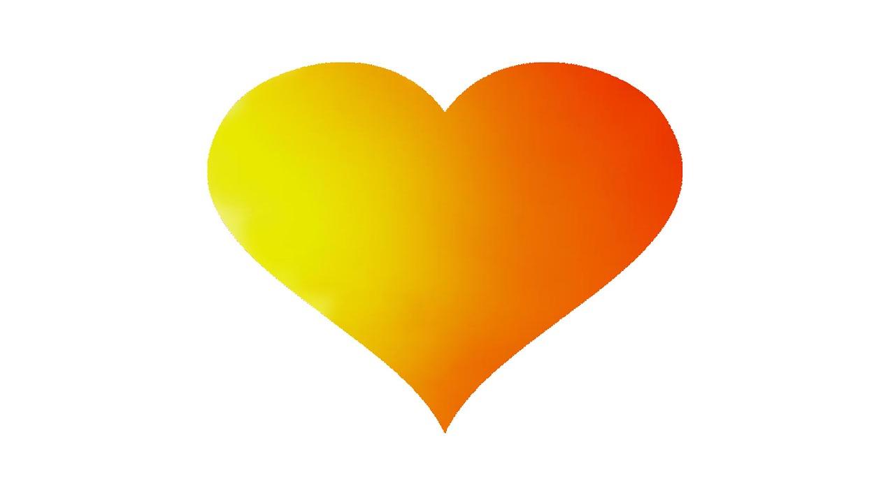 желтое сердце картинка последний