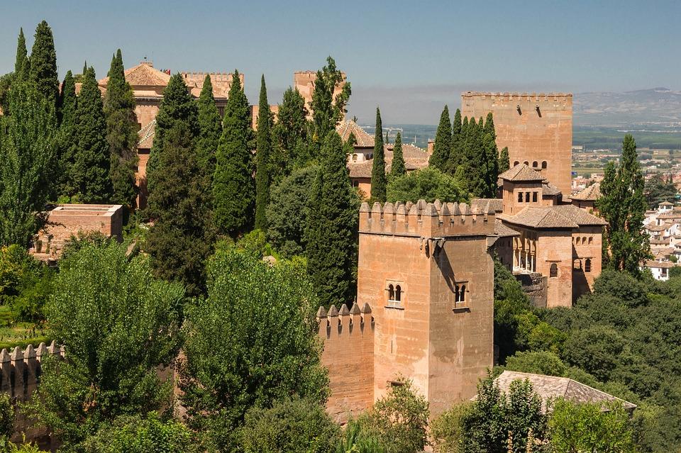 Alhambra, Grenade, Espagne, Forteresse, Palais
