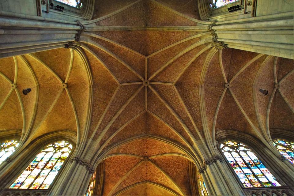 Vaulted Ceilings Neo Gothic Mariendom Linz Church