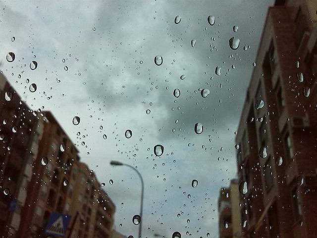 Free photo: Rain, Drops, City, Streets, Drizzle