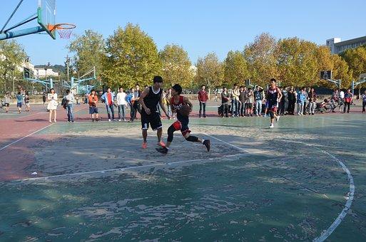 大学生, バスケットボール, 男子生徒