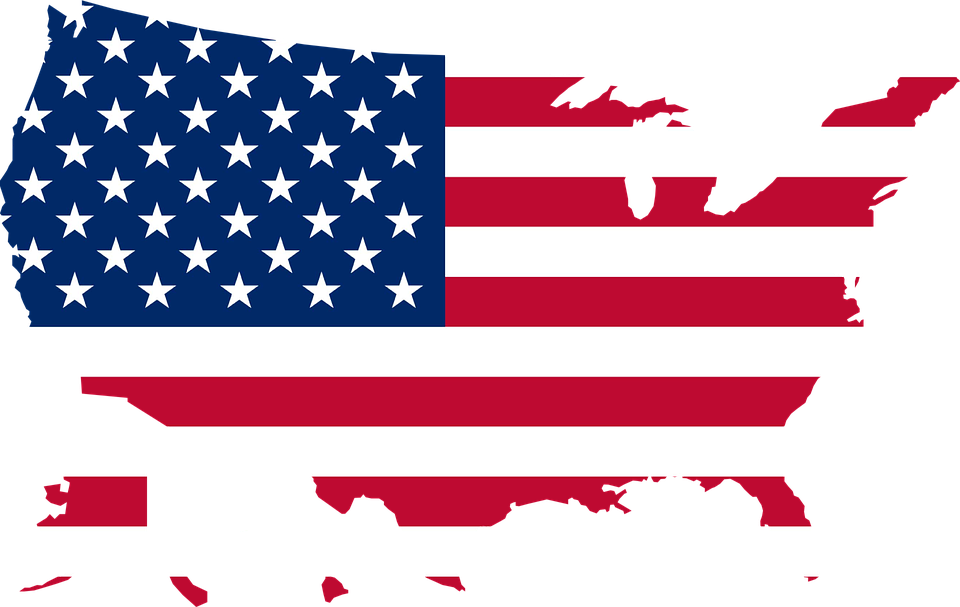 Free Vector Graphic America United States Map Flag Free - Us map graphic