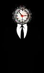 time, clock, man