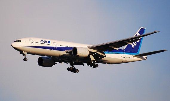 ボーイング 777, アナ, 全日本空輸, 航空機, 平面, 旅, 着陸, 交通