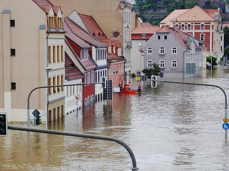 High Water Elbe Meissen Emergency Not Savi