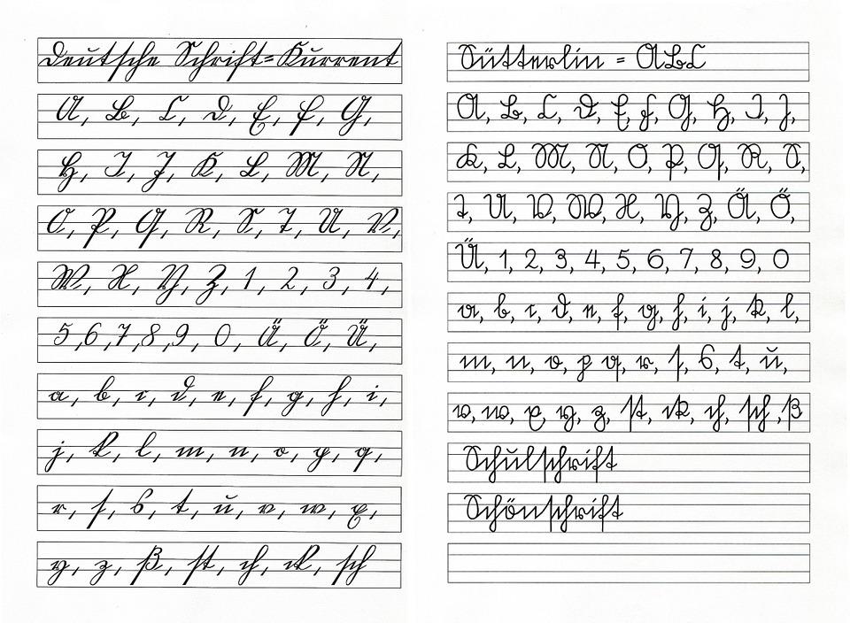 Sütterlin Kurrent Escritura A Mano · Imagen gratis en Pixabay