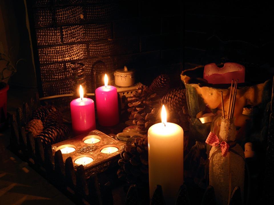 Fireplace Candles Pine Free Photo On Pixabay