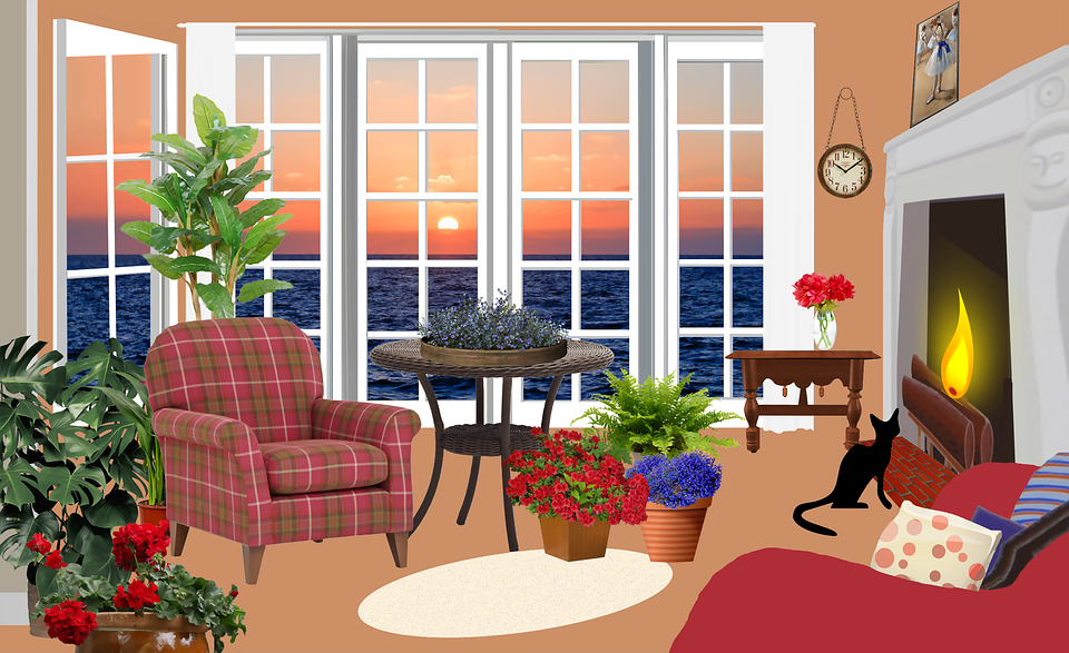 Free Illustration Living Room Living Armchairs Free