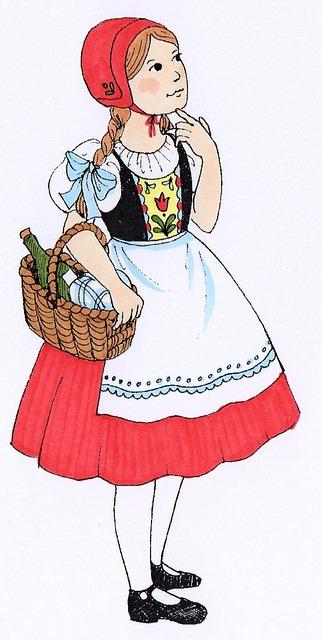 Kostenlose Illustration: Rotkäppchen, Märchen, Mädchen ...