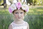 flower, headband, girl