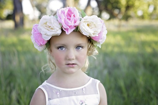 Flower, Headband, Girl, Cute, Summer