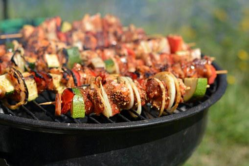 Grill, Skewers, Eating, Frying, Picnic
