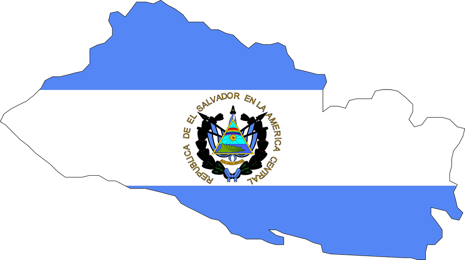El Salvador Flag Map Free Vector Graphic On Pixabay