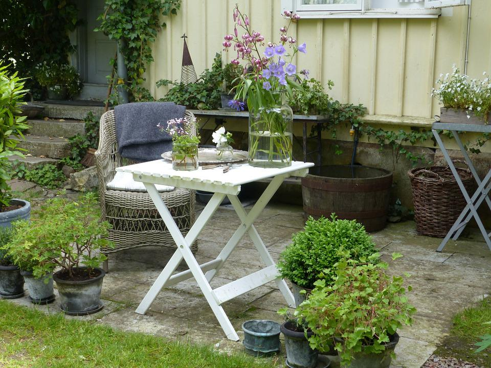 free photo seat table chair garden flowers free