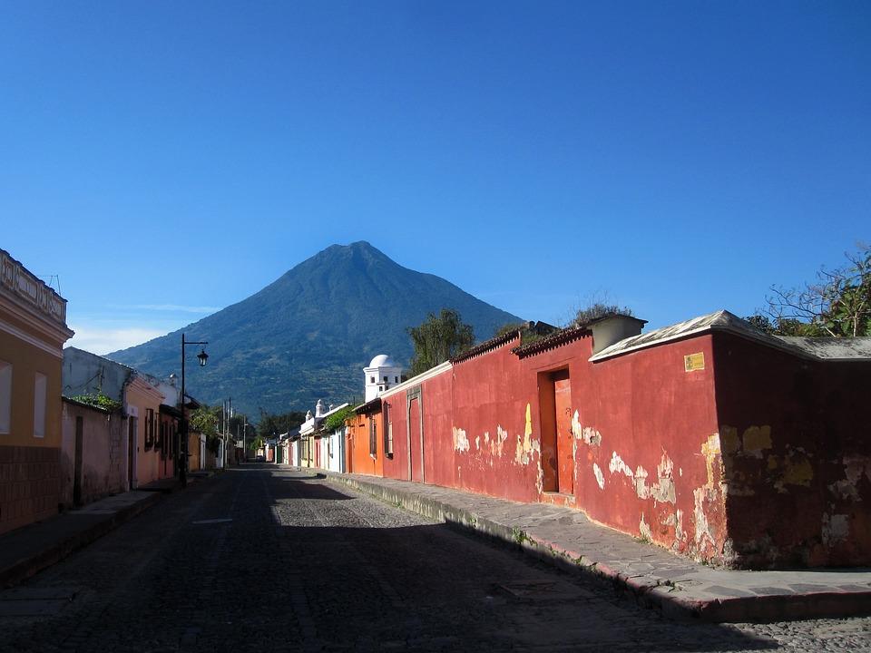 Antigua, Gwatemala, Ameryka, Centralna, Łaciński, Ulicy
