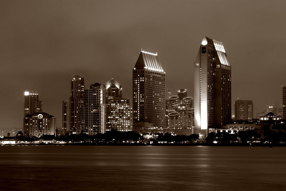 San Diego, Skyline, Downtown, City, California, Diego