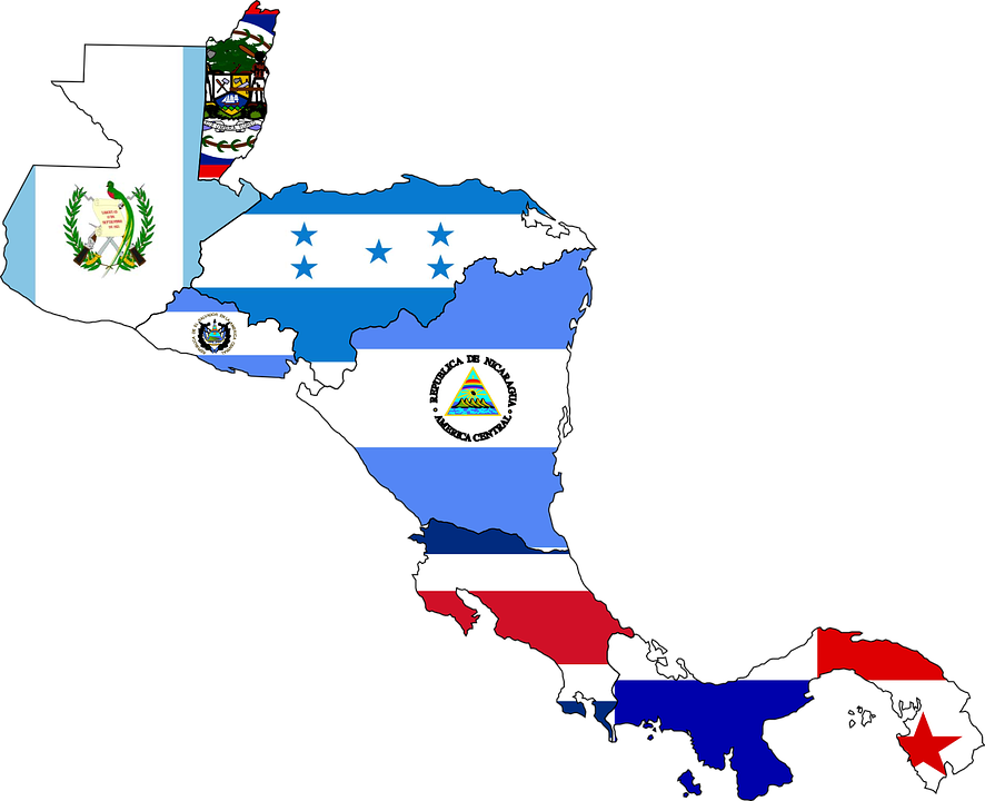 Cenral America Map.Central America Map Flag Free Vector Graphic On Pixabay