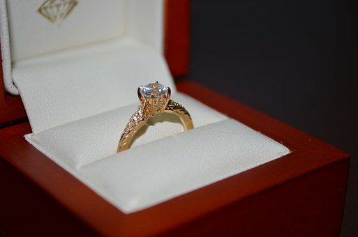 Ring, Jewlry, Engagement, Gold, Yellow
