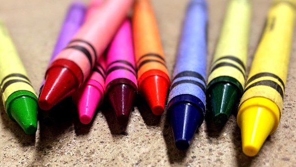 Crayons Colors School Drawing Education Co