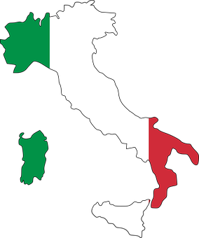 Italy Flag Map Geography Europe Country It