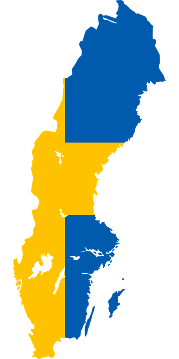 Free Vector Graphic Sweden Flag Map Country Europe Free - Sweden map flag