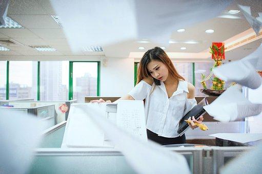 忙しいです, オフィス, Ol, 電話に出る, コピー, Ol, Ol, Ol