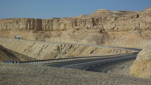 Desert, Dead Sea, Israel, Landscape