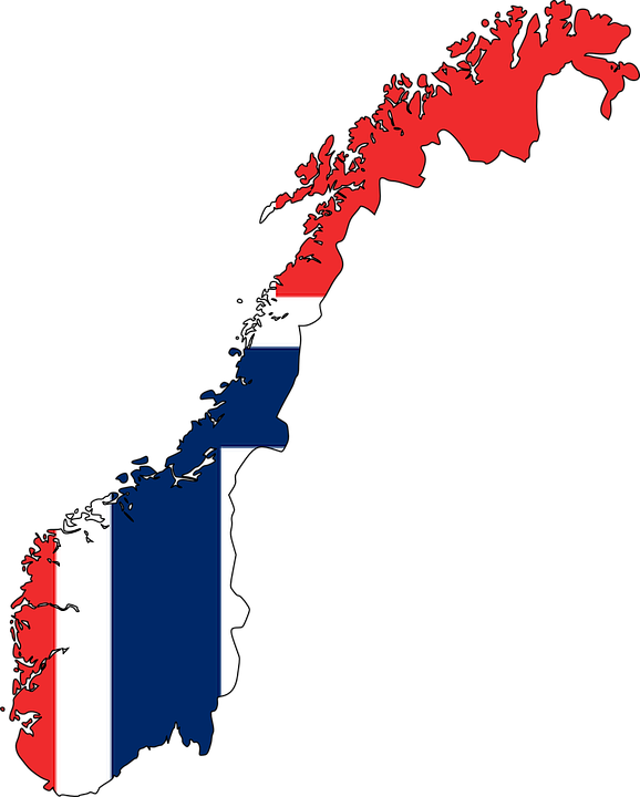 Free Vector Graphic Norway Flag Map Europe Country Free - Norway map free