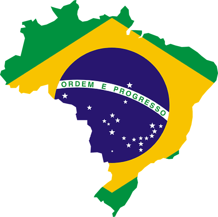 Image result for image of brazil on map