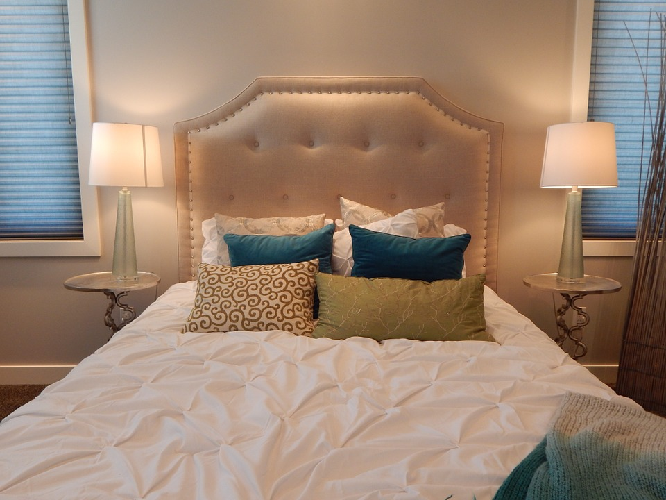 Bed, Bedroom, Head Board, Pillows, Room, Interior, Home