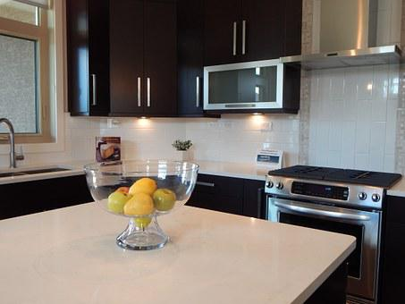 Kitchen, Stove, Cabinets, Home, House