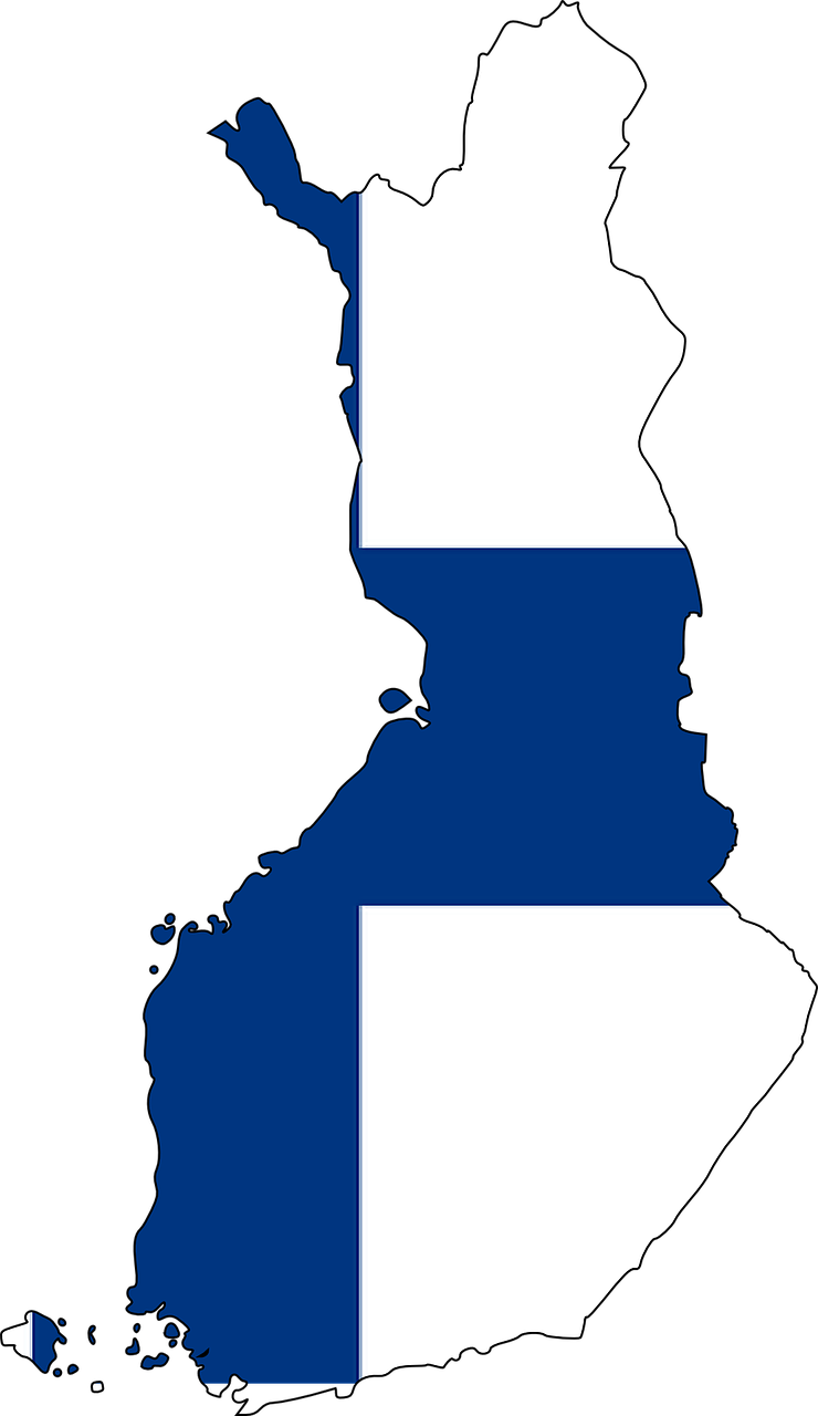 Finland Map Flag Free Vector Graphic On Pixabay