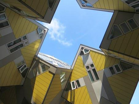 Rotterdam, Cube, Houses, Sky