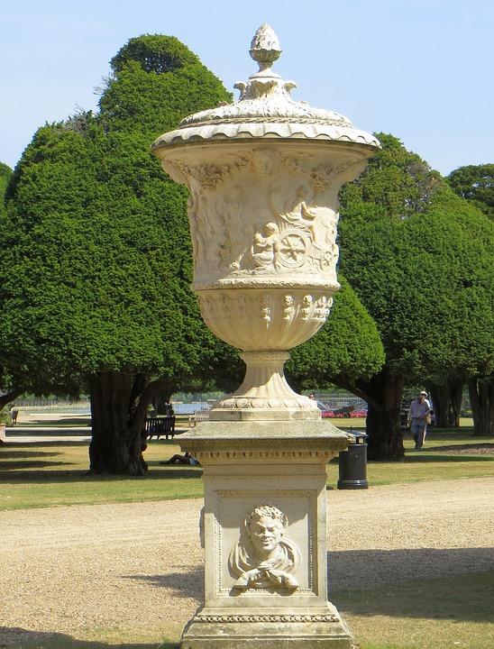 Ordinaire Urn Garden Stone Park Green Pot Decoration