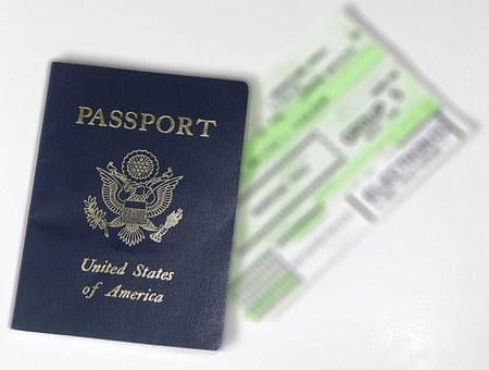 Passport, Ticket, Flight, Usa, Travel