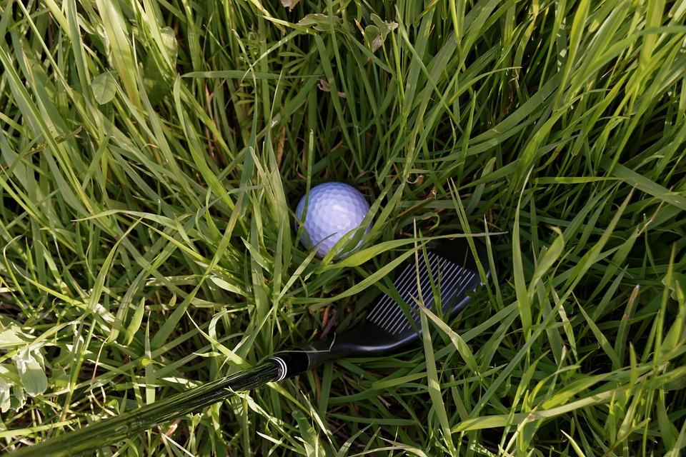 Golf, Club, De Fer, Coin, Bruts, Herbe, Le Sport, Cours