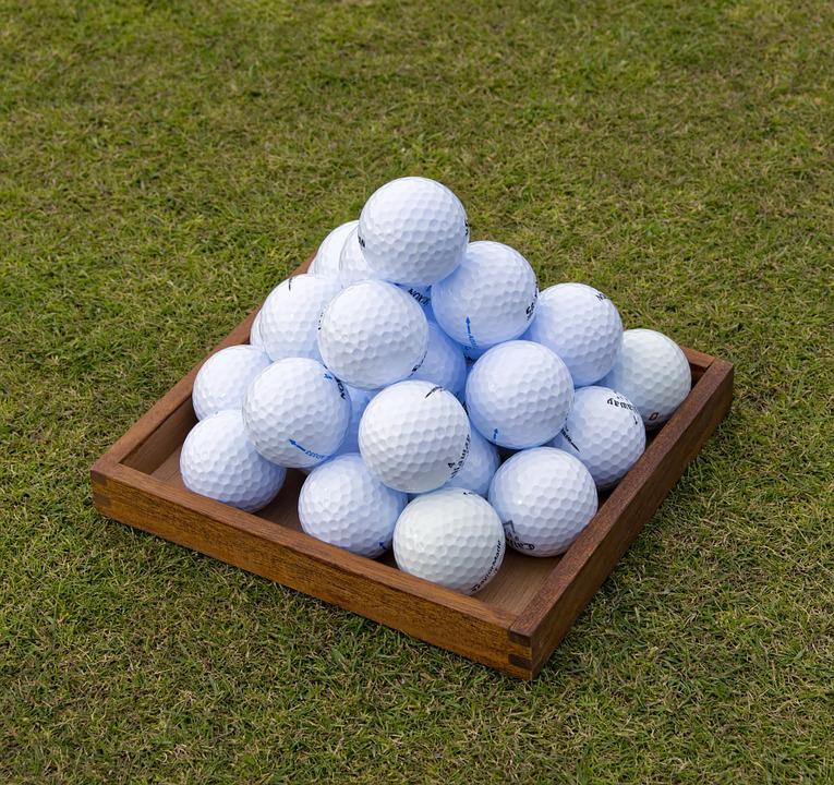 Golf, Balles De Golf, Pyramide, Pratique, Practice