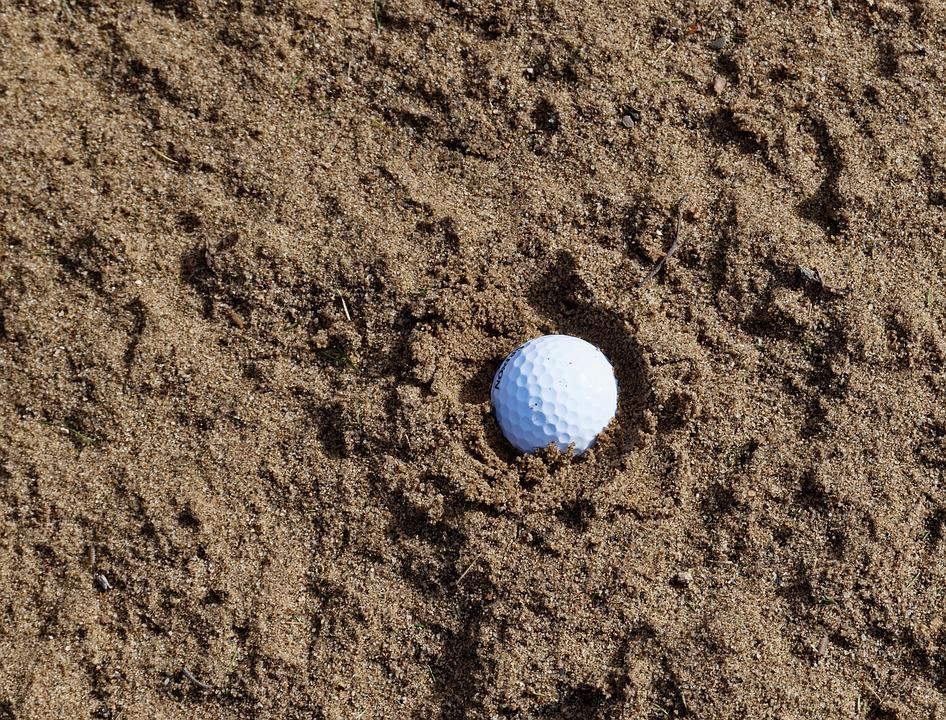 Sand, Golf, Bunker, Trap, Sport, Course, Club, Golfing