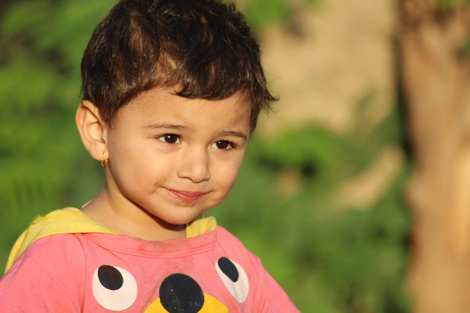 kid girl face sunshine cute small children iraq - Small Children Images