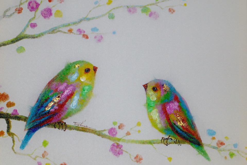 Bild Gemälde Vögel · Kostenloses Foto auf Pixabay
